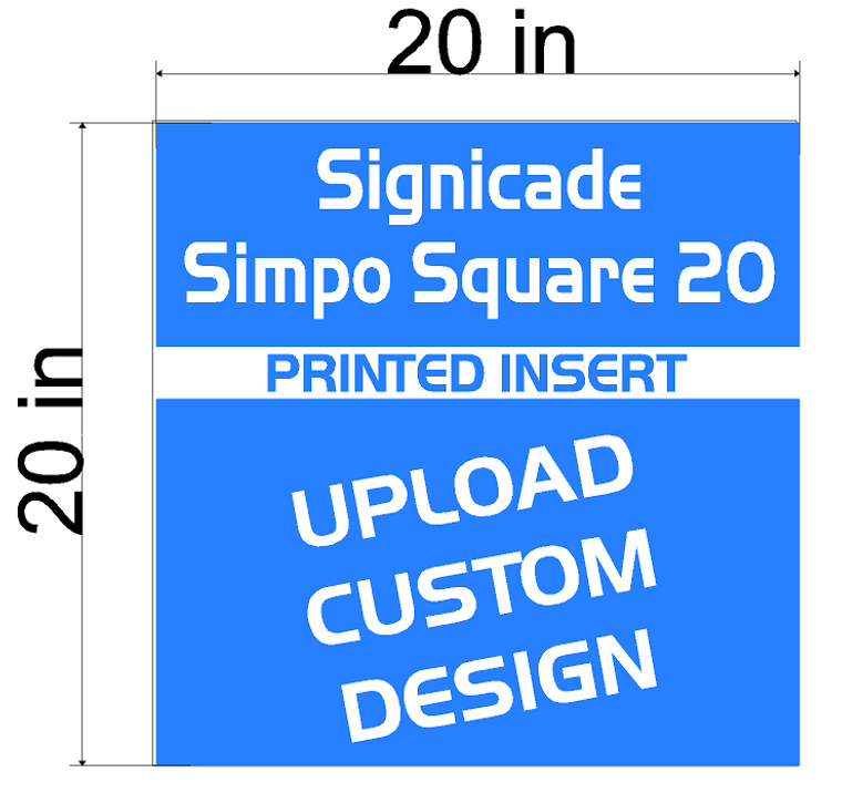 Plasticade Signicade Simpo Square 20 A-Frame  Replacement Sign Printed Insert 20 x 20