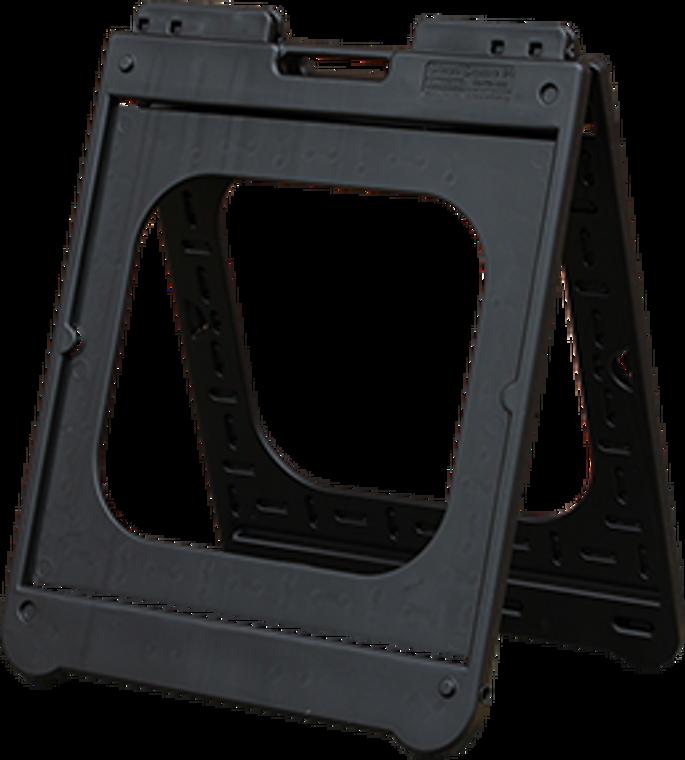 """black 24"""" x 24"""" plasticade portable sidewalk sign A-Frame"""