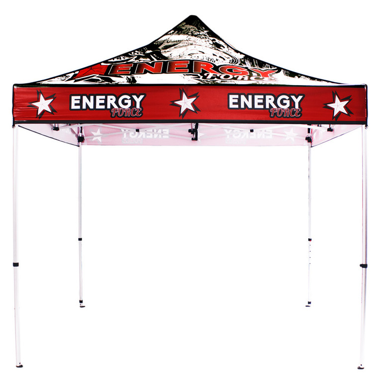 10 ft x 10 ft Custom Canopy Tent UV PRINTED Graphic - Water Resistant
