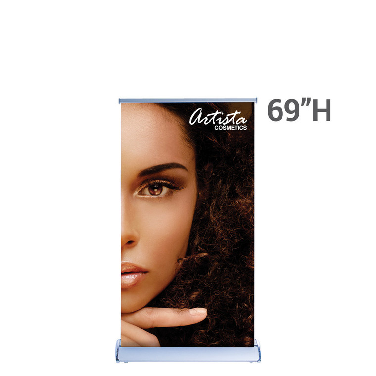 """Silverwing Retractable Banner Stand 33.5"""" x 69"""" with Printed Graphic"""