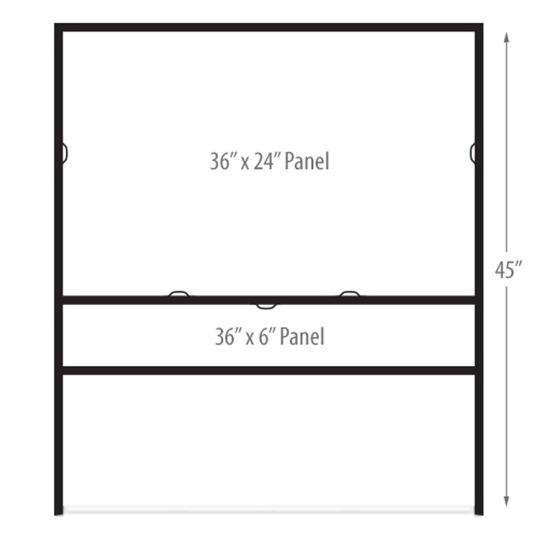 Metal Angle Iron Sign Frames 36 x 24 (Horizontal) IN GROUND