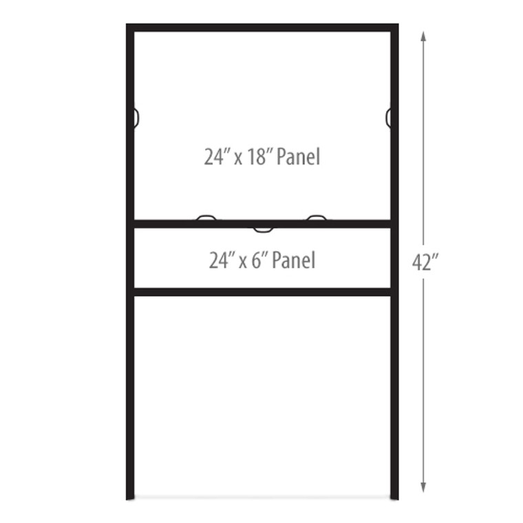 Metal Angle Iron Sign Frames 24 x 18 (Horizontal) IN GROUND