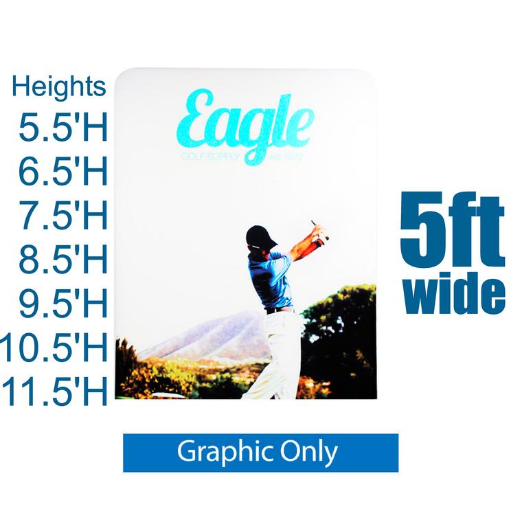 REPLACEMENT PRINT EZ Extend 5 ft width Tension Fabric - Premium 5.5 ft - 11.5 ft