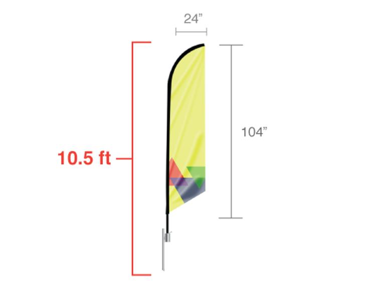 Feather Angled Flag 10.5 ft Size: Medium