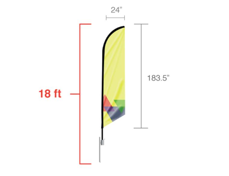 Feather Angled Flag 18 ft Size: XLarge