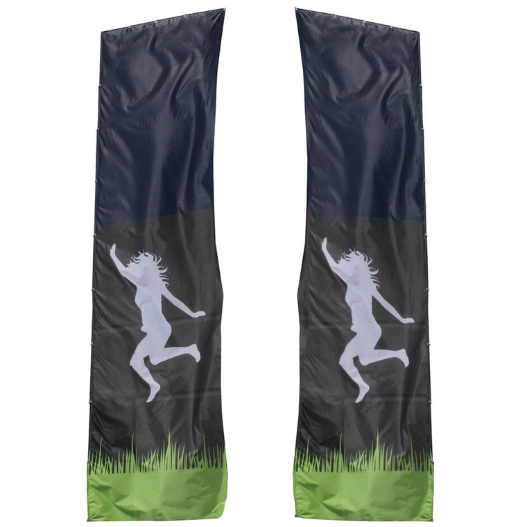 Mondo Flagpole 23 ft. - Double-Sided (Printed Banner Only)