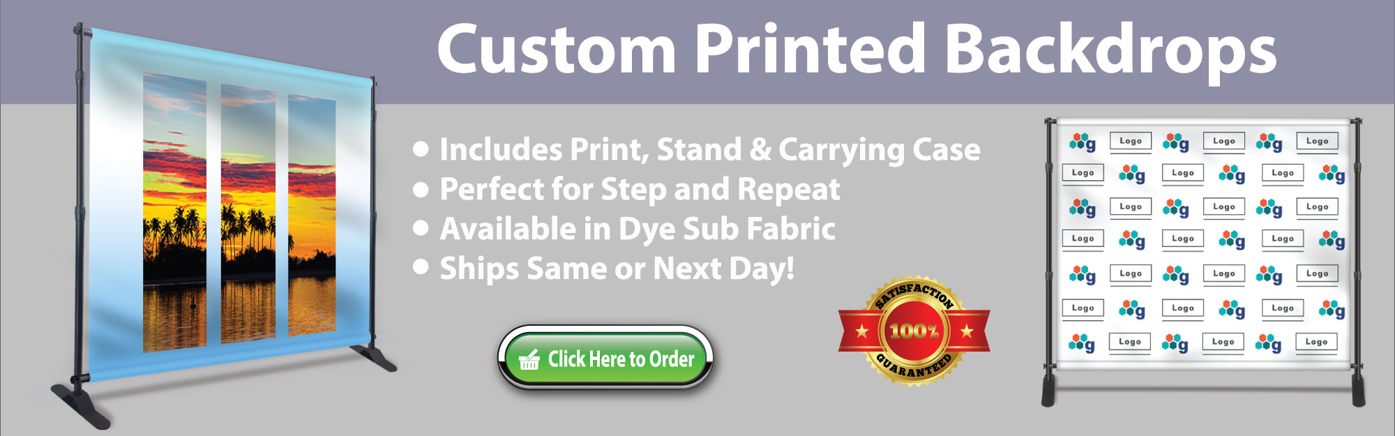 Custom Printed Backdrops