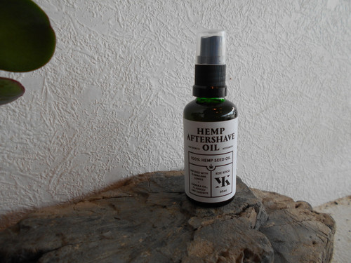Hemp aftershave oil .