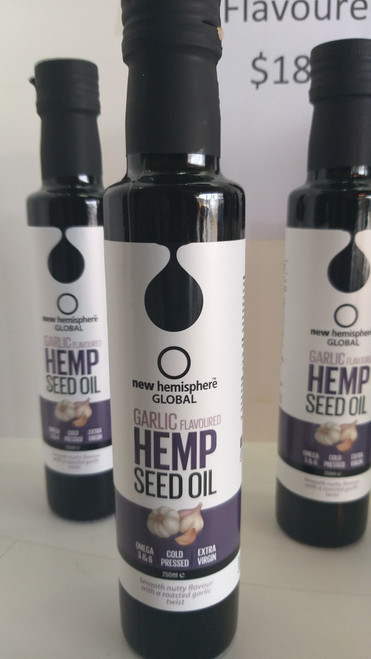 Hemp Seed oil .  Garlic Flavoured