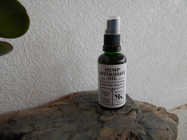 Hemp aftershave oil .