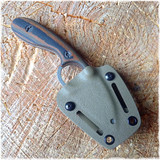 Necker II in a Spring Flat Dark Earth Kydex Sheath