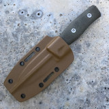 GSO-3.5, with coyote kydex sheath and green linen handles