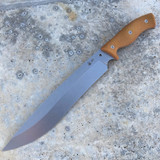 GSO-12 with tumbled blade and natural brown canvas micarta handles