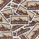 SURVIVE! Stickers