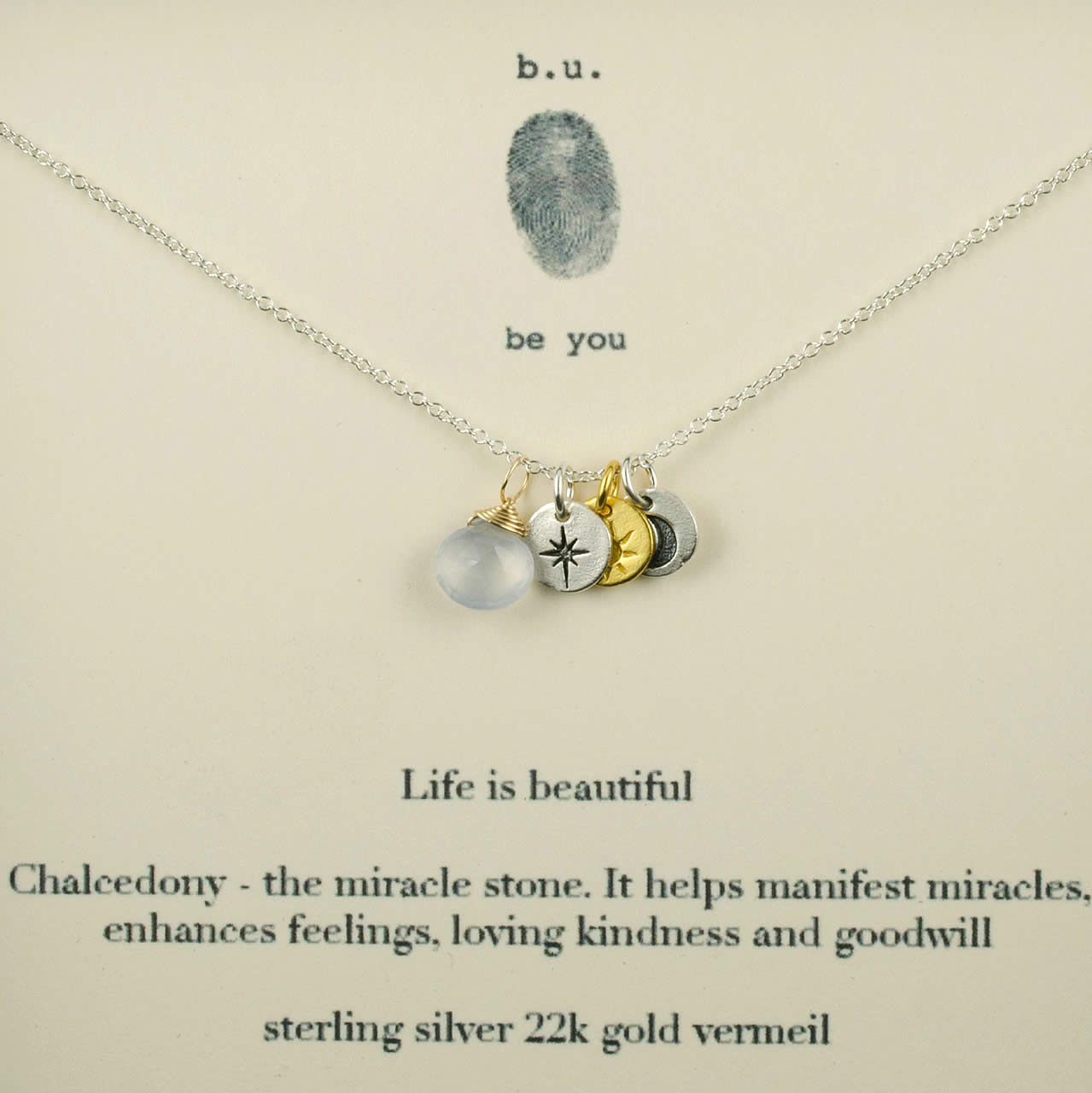 eca2e685b Life is Beautiful II Necklace | BU Jewelry | Chalcedony, Miracles, Kindness