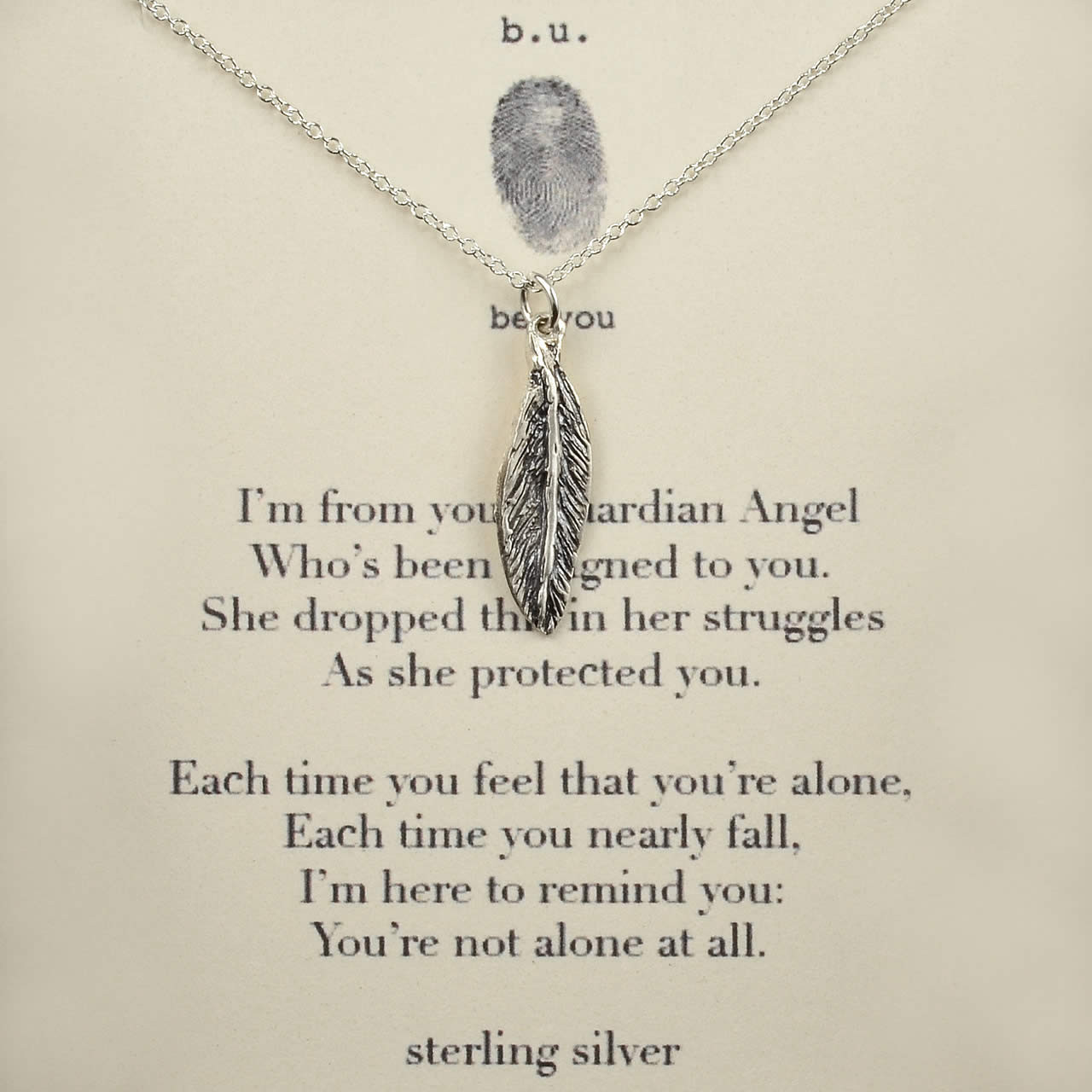 Guardian Angel Necklace - Silver