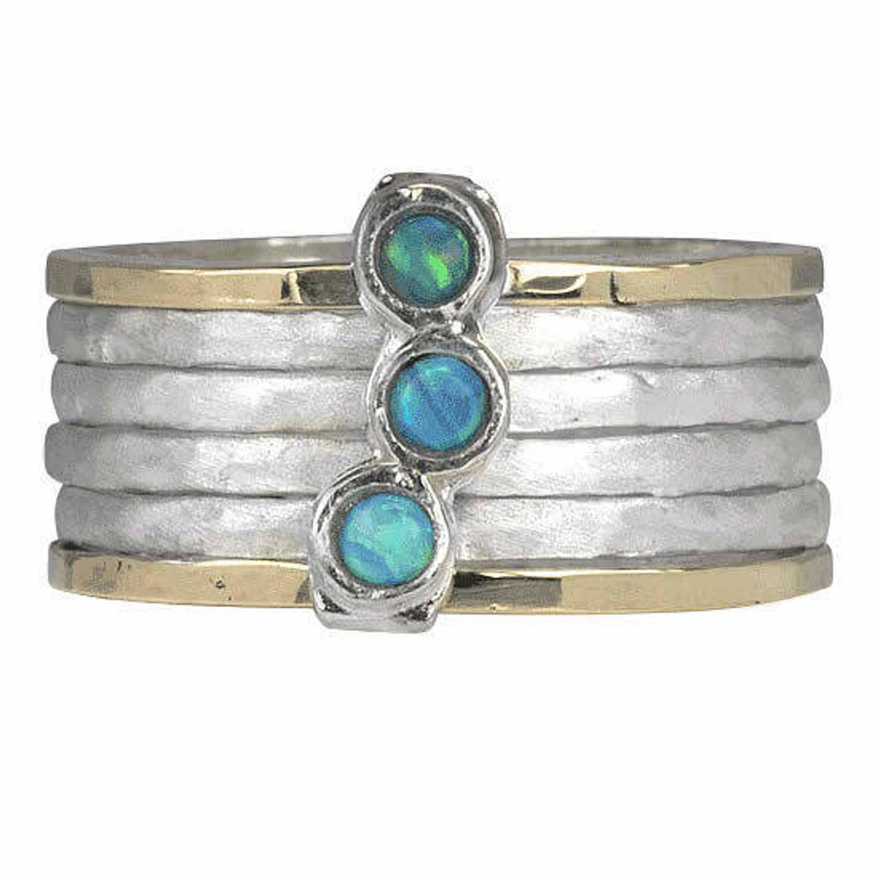 azure meditation spinner ring