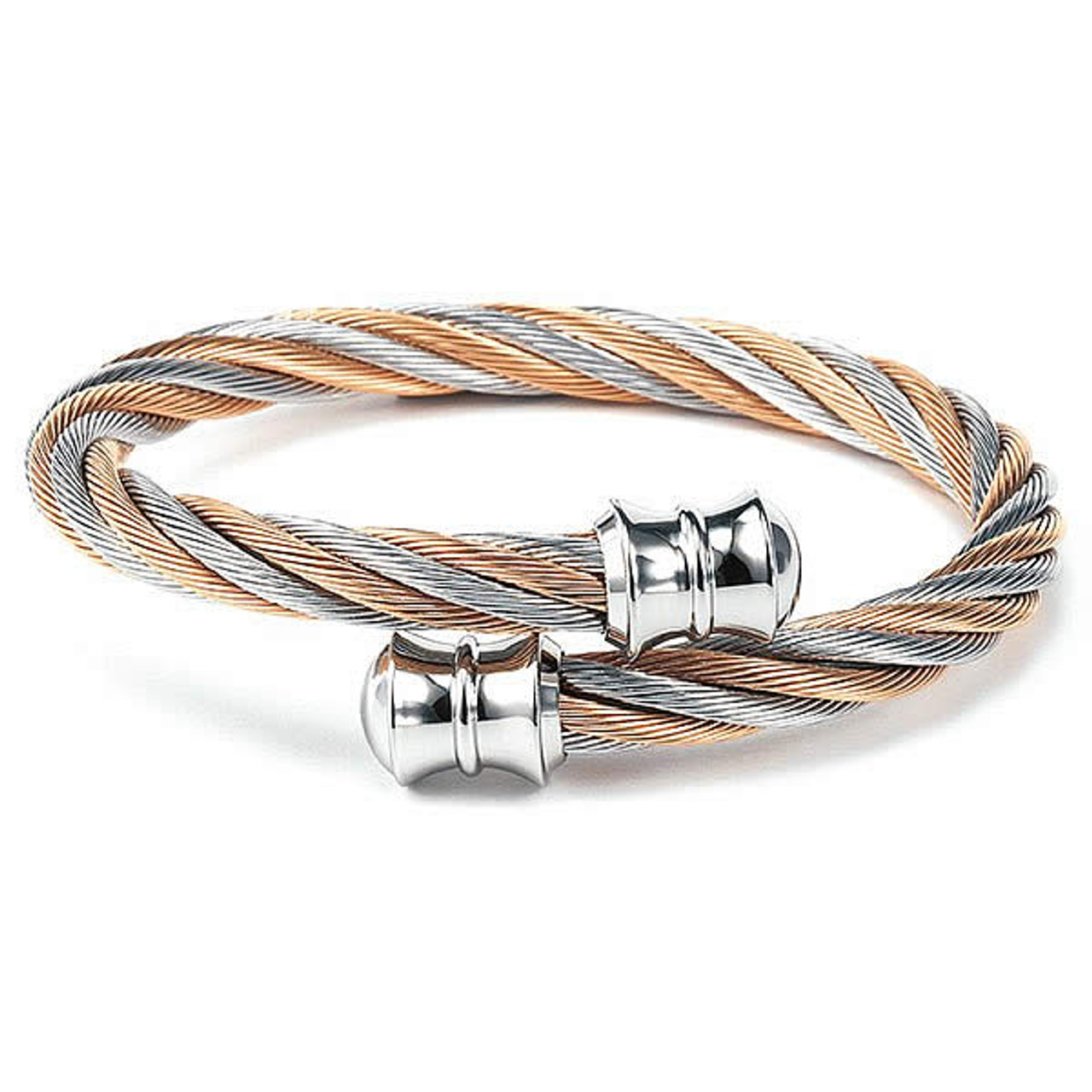 24dae2f34 Charriol Bangle Celtic - Bicolor Silver & Rose Gold | Jewelry