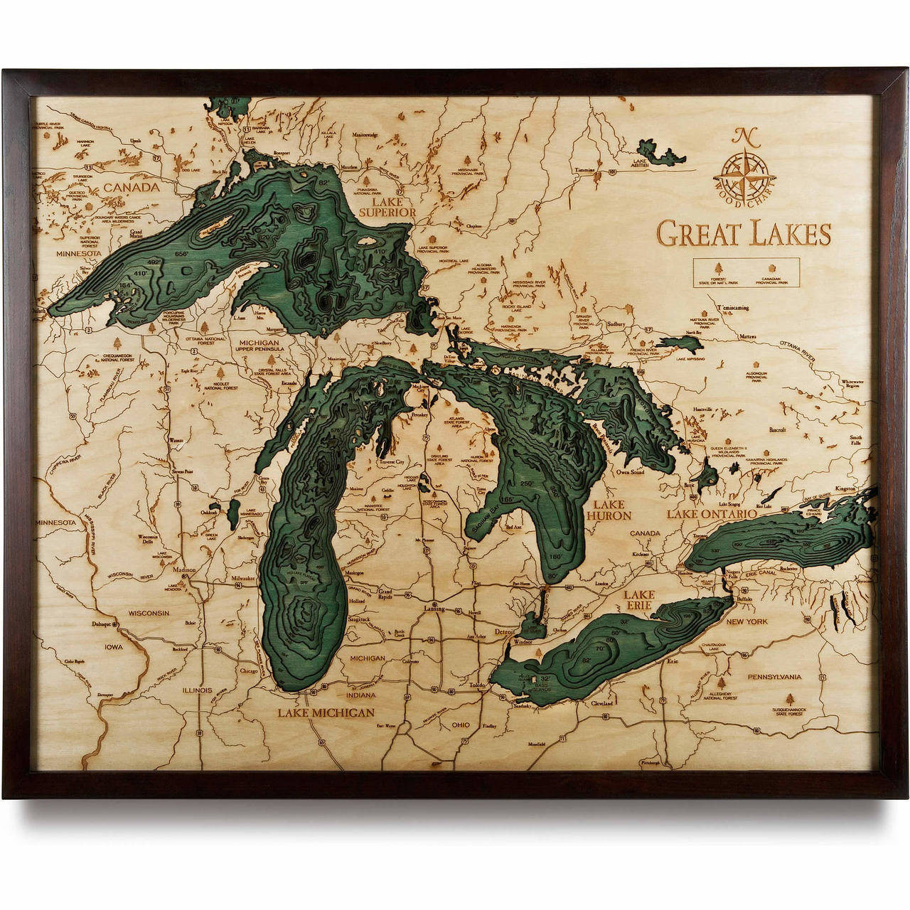 nautical wood map of choice