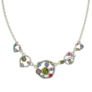 Patricia Locke Pennies from Heaven Necklace - Silver Fling