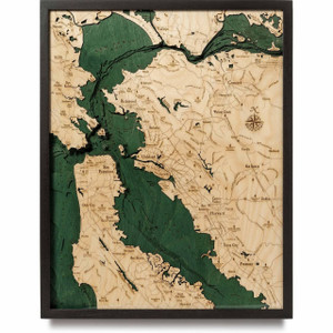 San Francisco Bay Area Small Nautical Wood Maps 3d Wall Decor Create a lasting memento of anywhere in the world at maps of the world you can create a beautiful custom map poster of any location on earth. cad