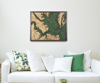 Decorating with 3D Wood Maps