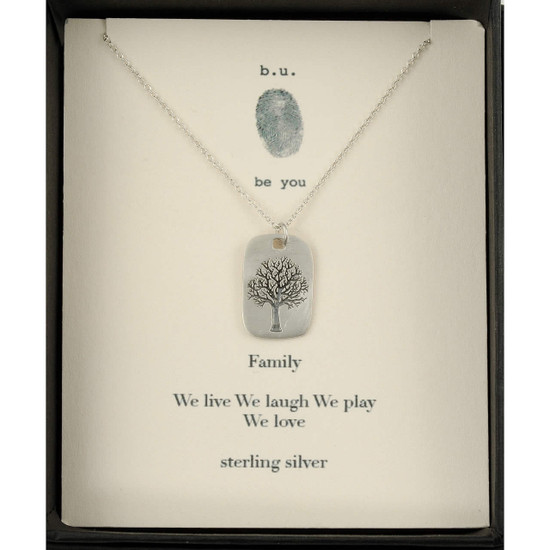 Family Tree Necklace Bu Jewelry Live Laugh Love Play