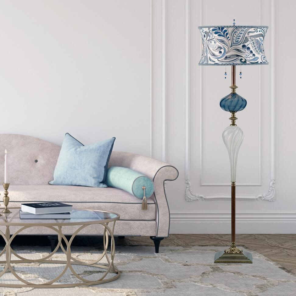 Create a Living Room Focal Point With Kinzig Design Lamps