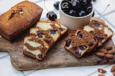 Almond Cherry & Chocolate Marble Cake