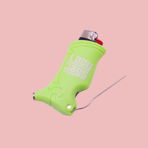 The Lime Green Lady Jays Toker Poker is a premium, all-inclusive smokers tool. Finally, your poker/dabber, tamper, and lighter are all in the same place. This essential multi-tool has everything you need to vape, dab, roll and toke. Its ergonomic design provides the most basic, yet essential tools for any smoker.