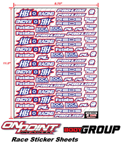 Race Sticker Sheets Body Group