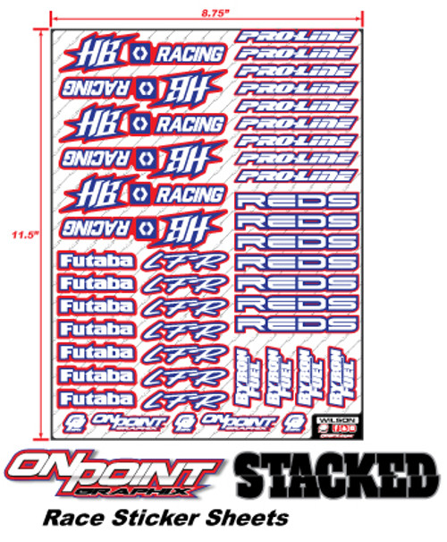 Race Sticker Sheets STACKED