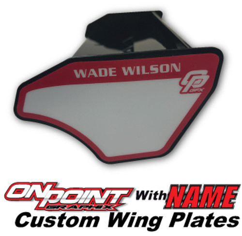 Custom Wing Plates w/ Name