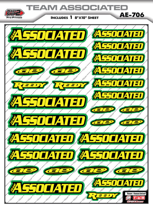 Team Associated Ready2Ship Stickers
