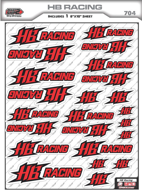 HB Racing Ready2Ship Stickers
