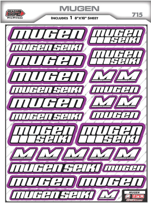 Mugen Seiki Ready2Ship Stickers