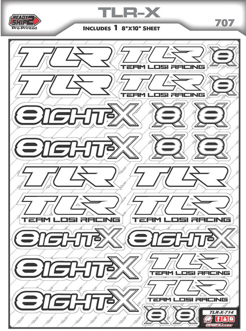 TLR 8ight X Ready2Ship Stickers