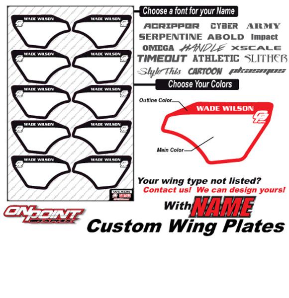 Custom Wing Plates w/ Name