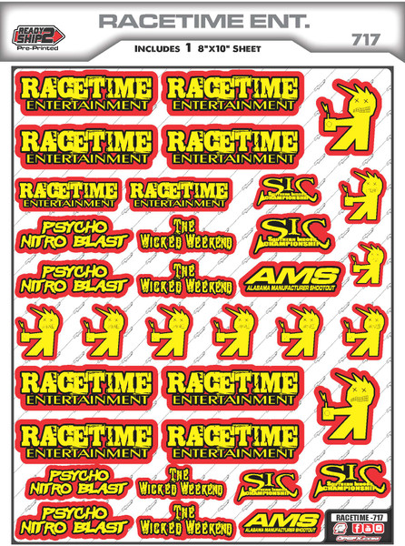 Racetime Ent. Ready2Ship Stickers