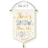 There's Snow Place Like Home Greeting Banners