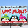 Happy Holidays Penguin Sign