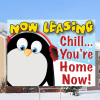 Chill...You're Home Now Penguin Sign