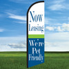 Cheerful: Now Leasing/Pet Friendly Wide Body WindLeaser 24/7 Flag Only