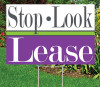 "Dazzle Stop Look Lease 12""x18""Sign"