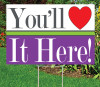 "Dazzle You Will Love it Here 12""x18""Sign"