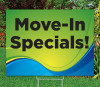 """Move-In Specials! -18""""x24""""Sign- Coastal Waves Theme"""
