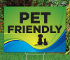 "Pet Friendly -18""x24""Sign- Coastal Waves Theme"