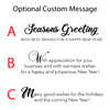 Personalized Holiday Cards Red & Silver Snowflakes