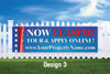 3' x 10' Lease Online Semi Custom Banner