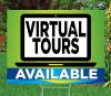 """Virtual Tours-18""""x24""""Sign- Coastal Waves Theme"""